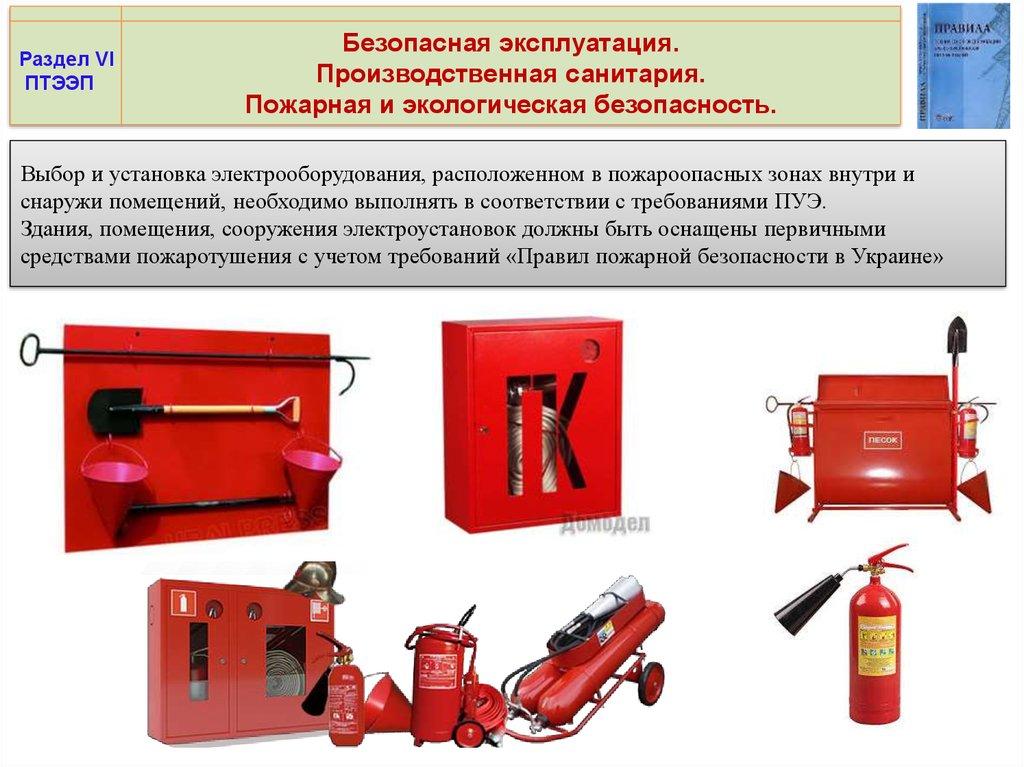 Инструкция о мерах пожарной безопасности при эксплуатации электроустановок