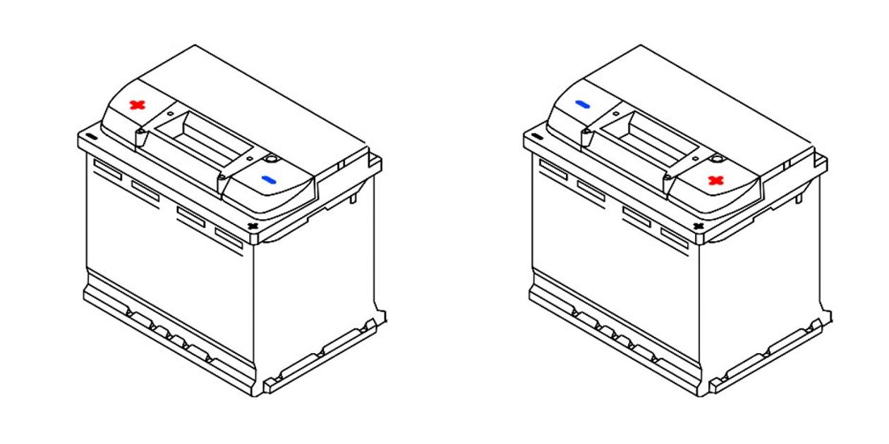 Полярность аккумулятора: прямая и обратная.