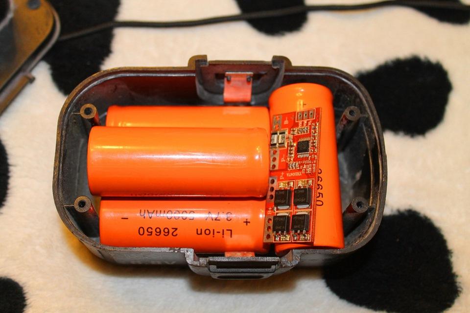 Переделать шуруповерт на литиевый аккумулятор