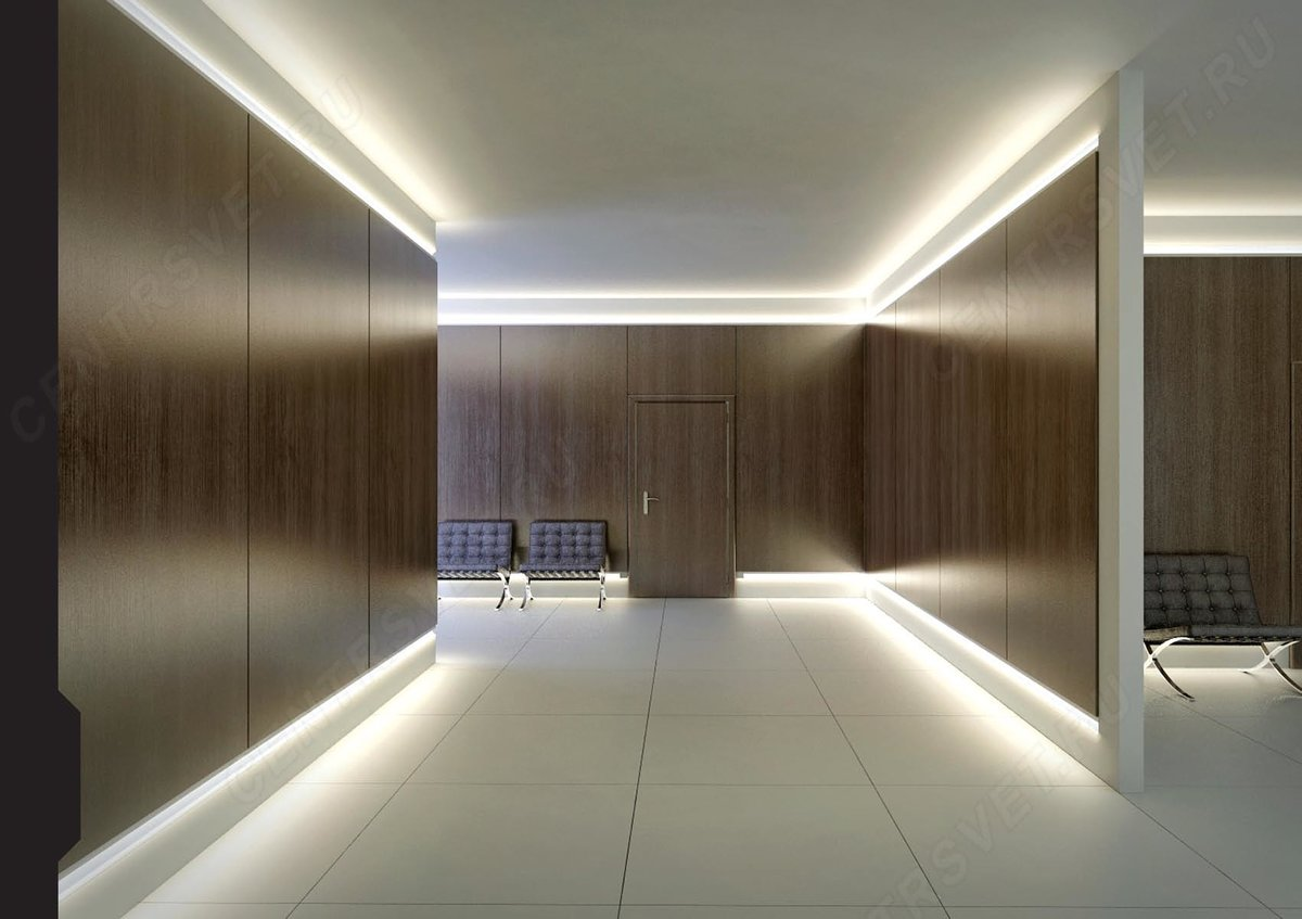 Натяжной потолок с диодной подсветкой: изучаем суть