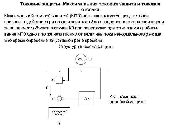Защита и автоматика асинхронного двигателя 6(10) кв