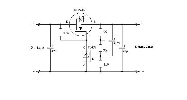 Схемы и принципы работы стабилизатора tl431