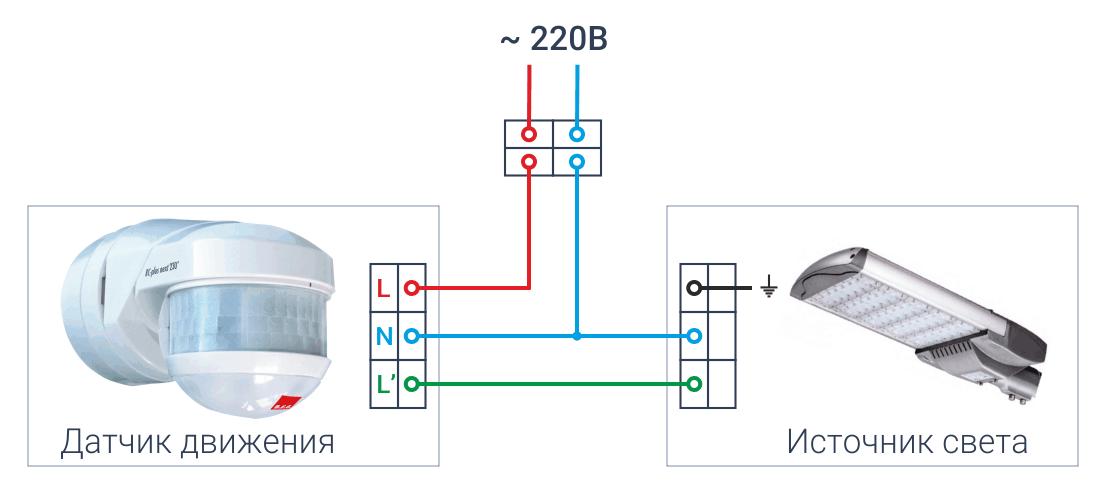 Подборка схем подключения датчика движения для включения света