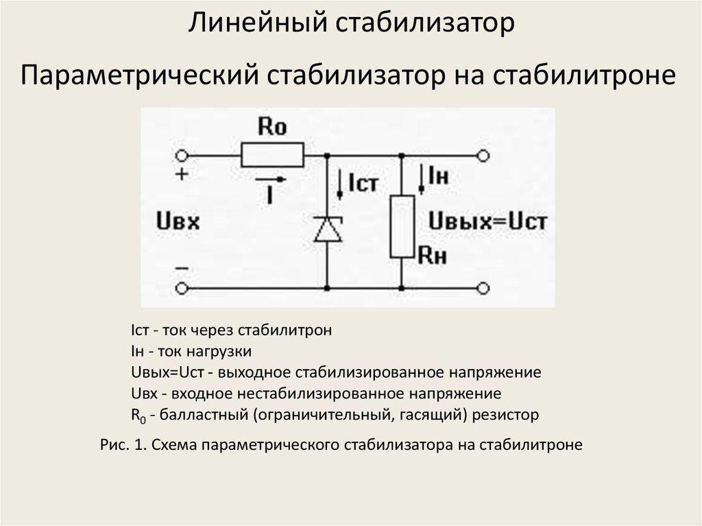 Параметрический стабилизатор напряжения