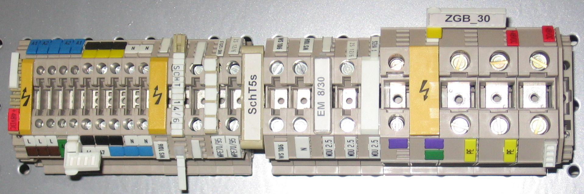 Клеммные колодки для din-рейки: классификация, фото