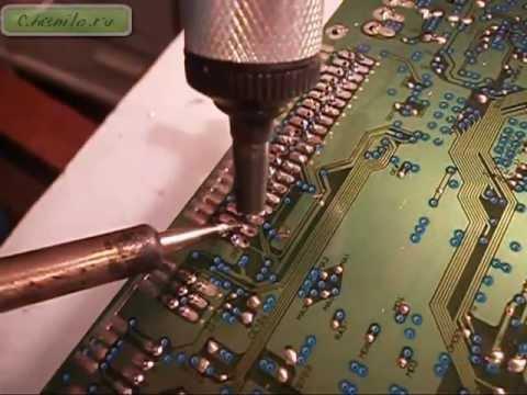 Способы демонтажа микросхемы с платы