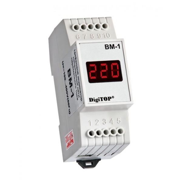 Амперметр/вольтметр (вольтамперметр, ампервольтметр) на дин рейку вар-м01-083 ас20-450в