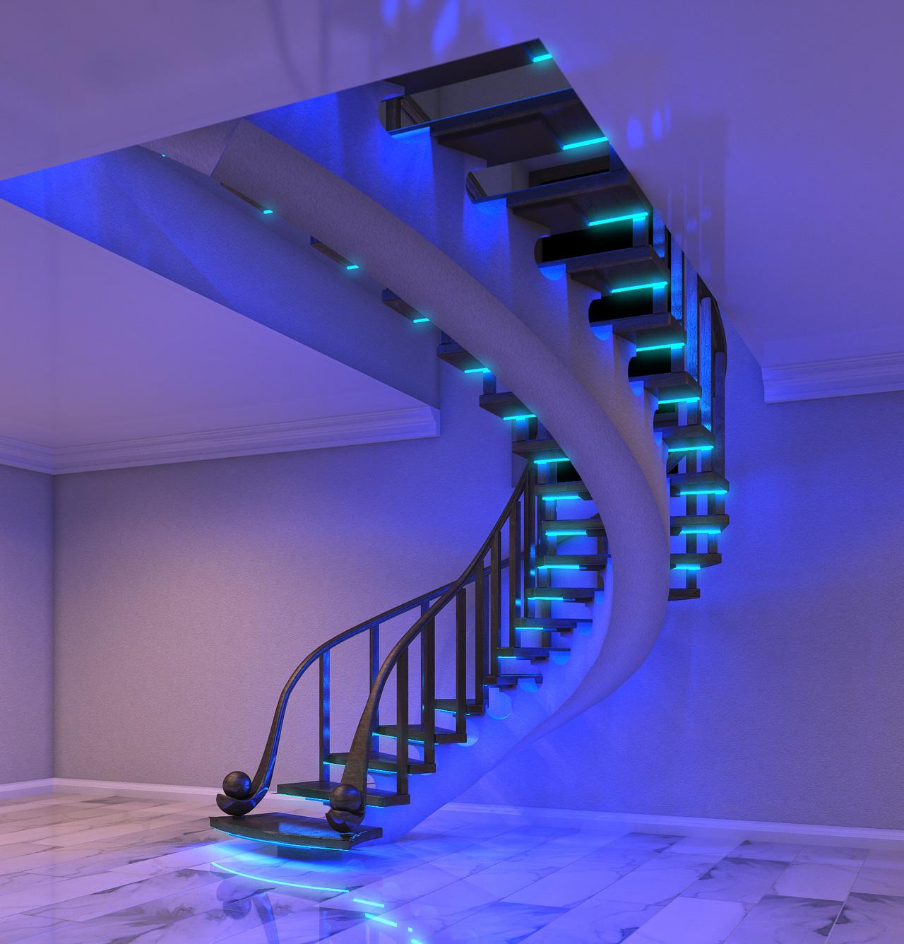Делаем самостоятельно освещение лестницы