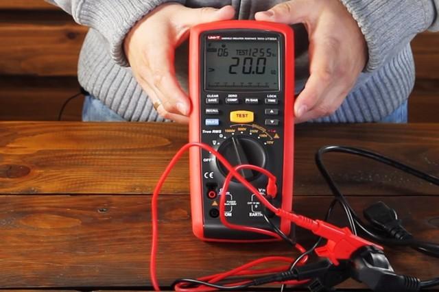Измерение сопротивления изоляции обмоток электродвигателя мегаомметром