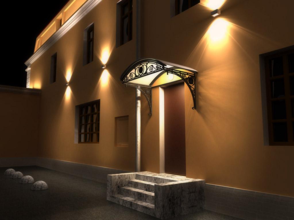Светодиодные led светильники в создании заливающего, фонового, контурного архитектурного освещения зданий