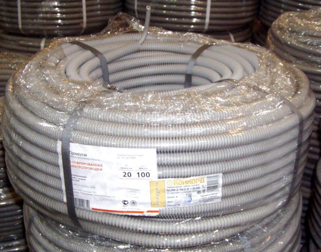 Гофрированные трубы для монтажа электропроводки:
