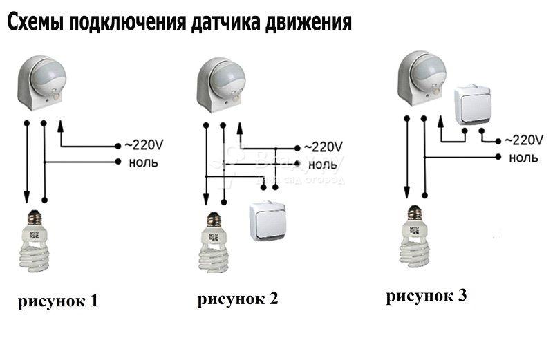 Как подключить датчик движения для управления светом?