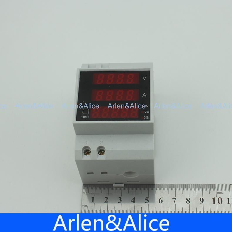 Амперметр/вольтметр (вольтамперметр, ампервольтметр) на дин рейку вар-м01 узкий корпус