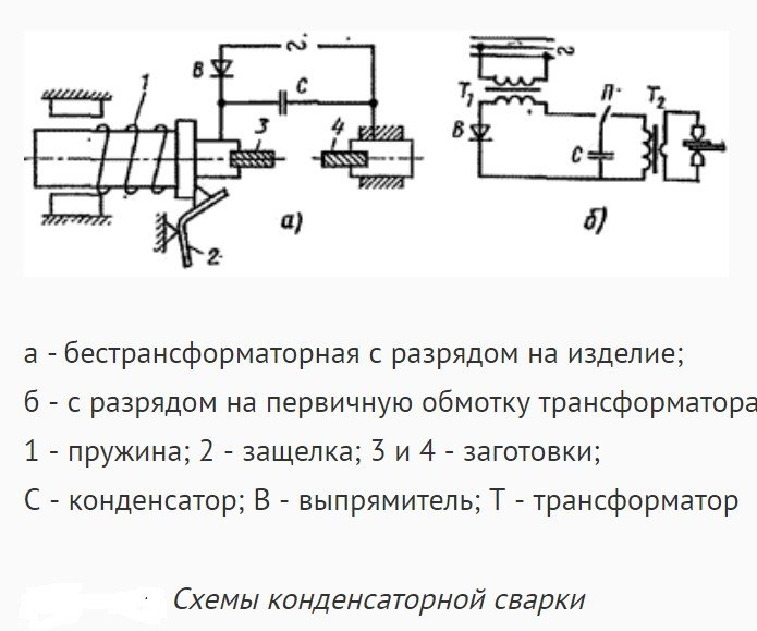 Оборудование для конденсаторной сварки