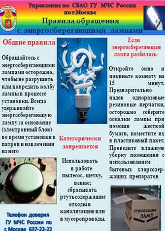 Какой вред от разбитых люминесцентных ламп. разбилась энергосберегающая лампочка в квартире — ваши действия разбилась люминесцентная
