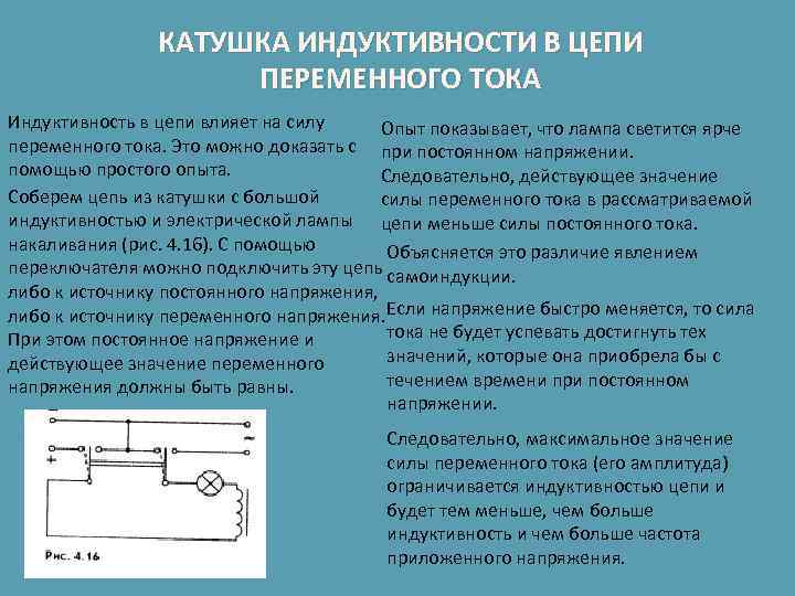 Реальная катушка в цепи переменного тока