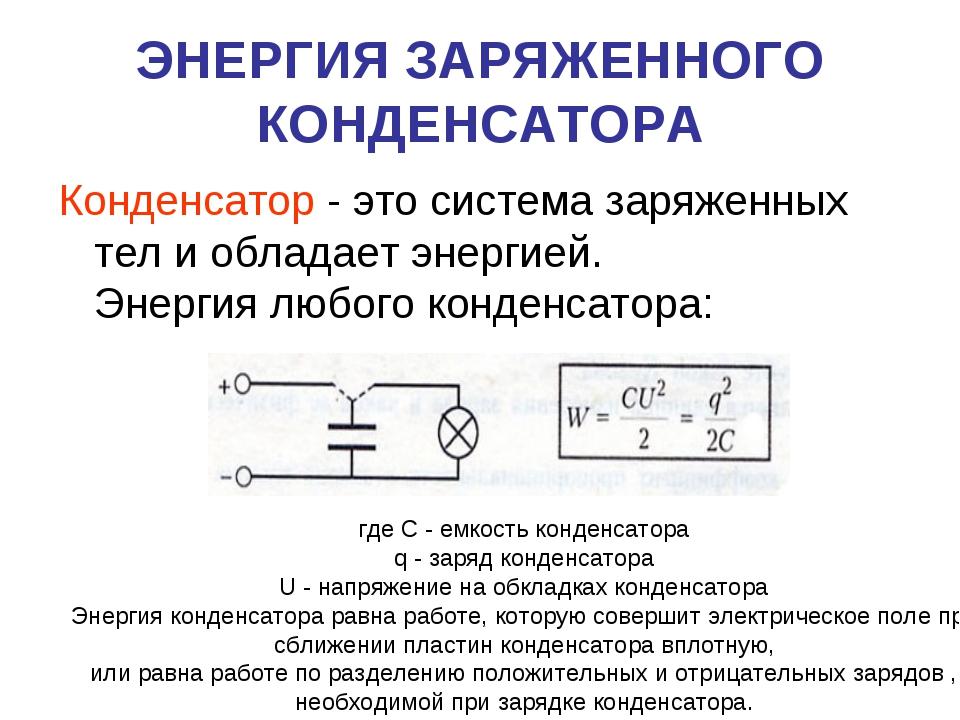 Что такое конденсатор?