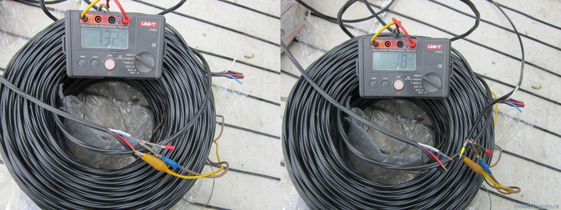 Нормальное сопротивление обмотки электродвигателя. как проверить изоляцию кабеля мегаомметром