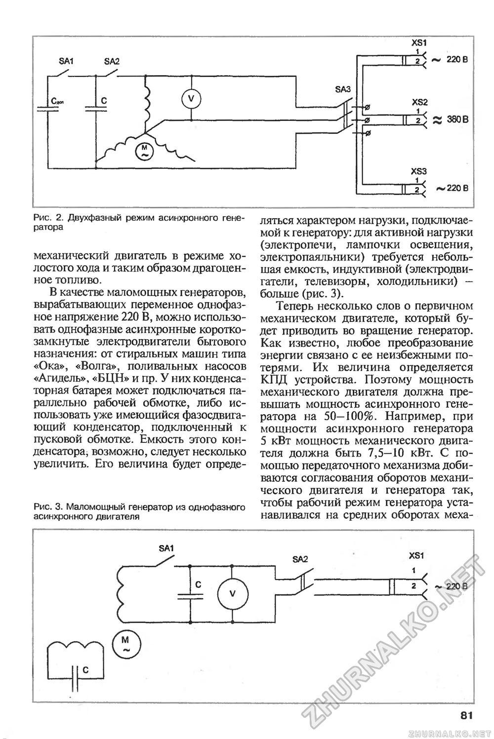 Как изготовить генератор из асинхронного двигателя