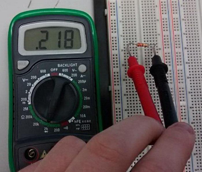 Как правильно измерить сопротивление мультиметром