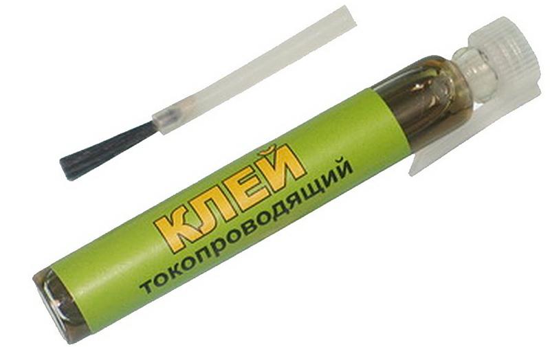 Использование токопроводящего клея в ремонте