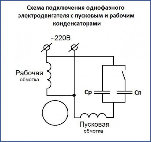 Как подобрать конденсаторы для запуска электродвигателя