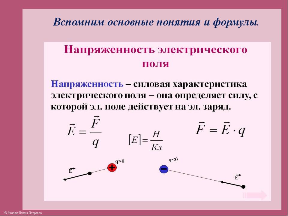 Электростатика: элементы учебной физики лекция 5. напряжённость электрического поля