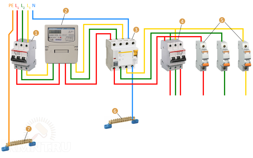 Как правильно подключить автоматический выключатель
