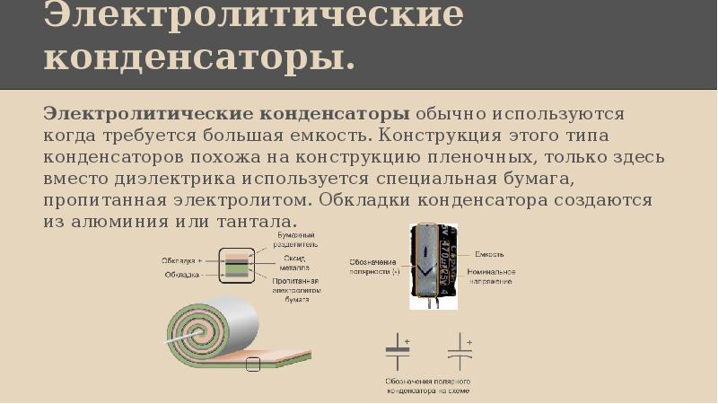 Электролитический конденсатор