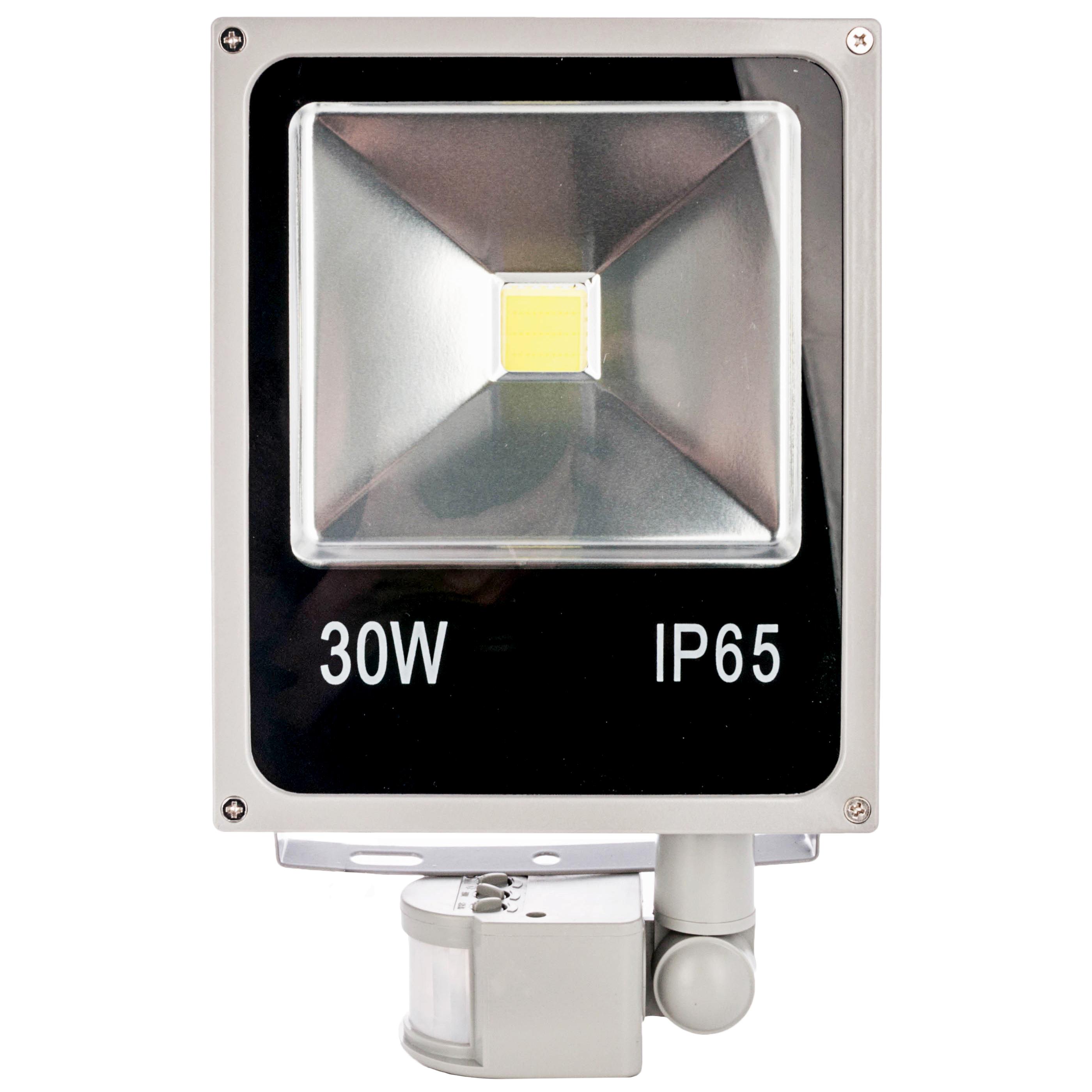 Как смонтировать и подключить уличный прожектор с датчиками движения.