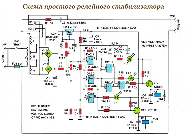 Подключаем стабилизатор напряжения к сети