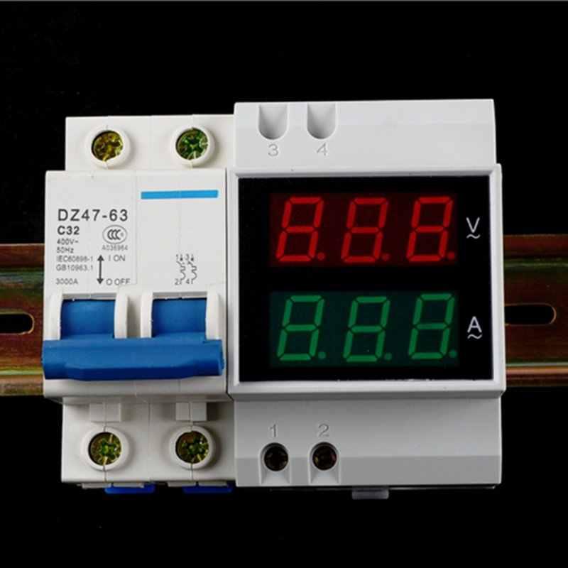 Вольтметр на din рейку вр-м01 для работы с поcтоянным током