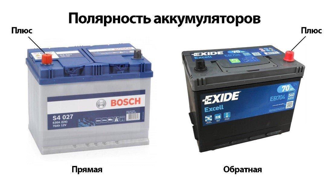 Разница между аккумуляторами прямой и обратной полярности