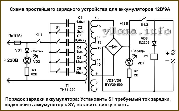 Зарядное устройство для автомобильного аккумулятора своими руками: простые схемы и проекты! 115 фото как построить самодельное устройство для зарядки