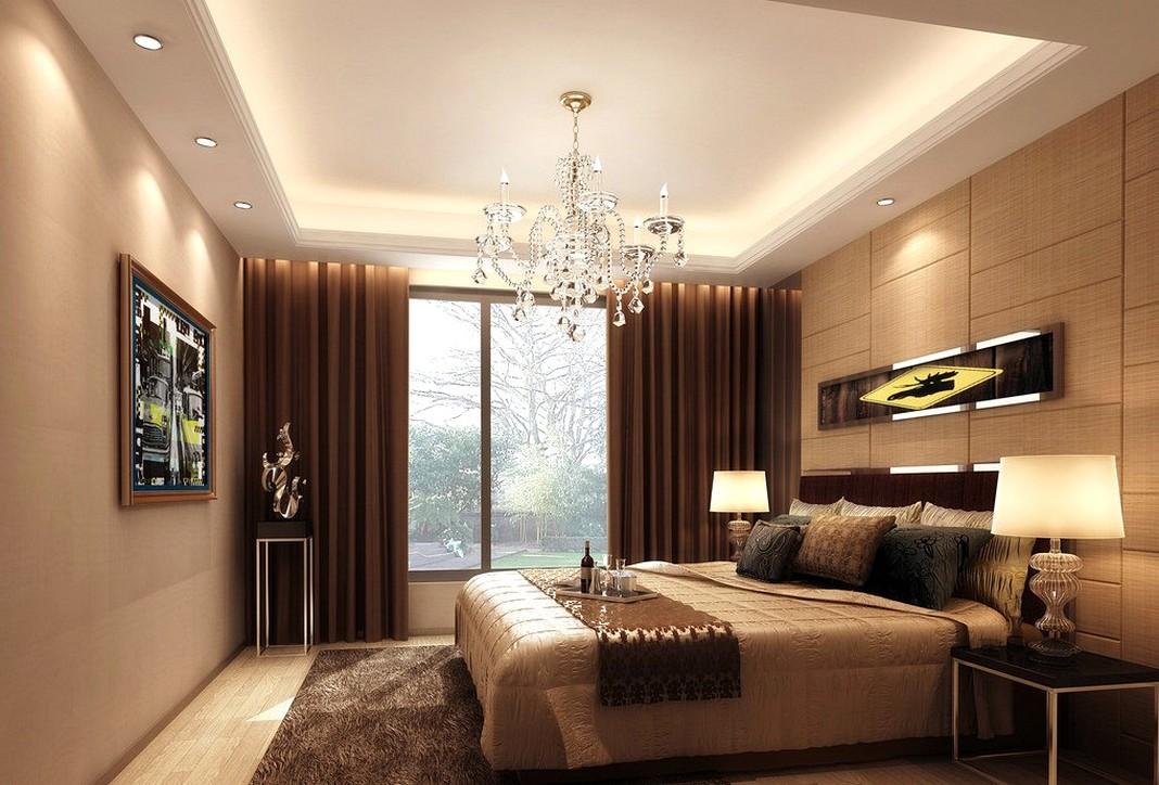 Особенности освещения в спальне - 50 примеров интерьера