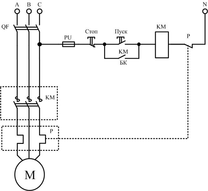 Назначение, устройство и работа магнитного пускателя.