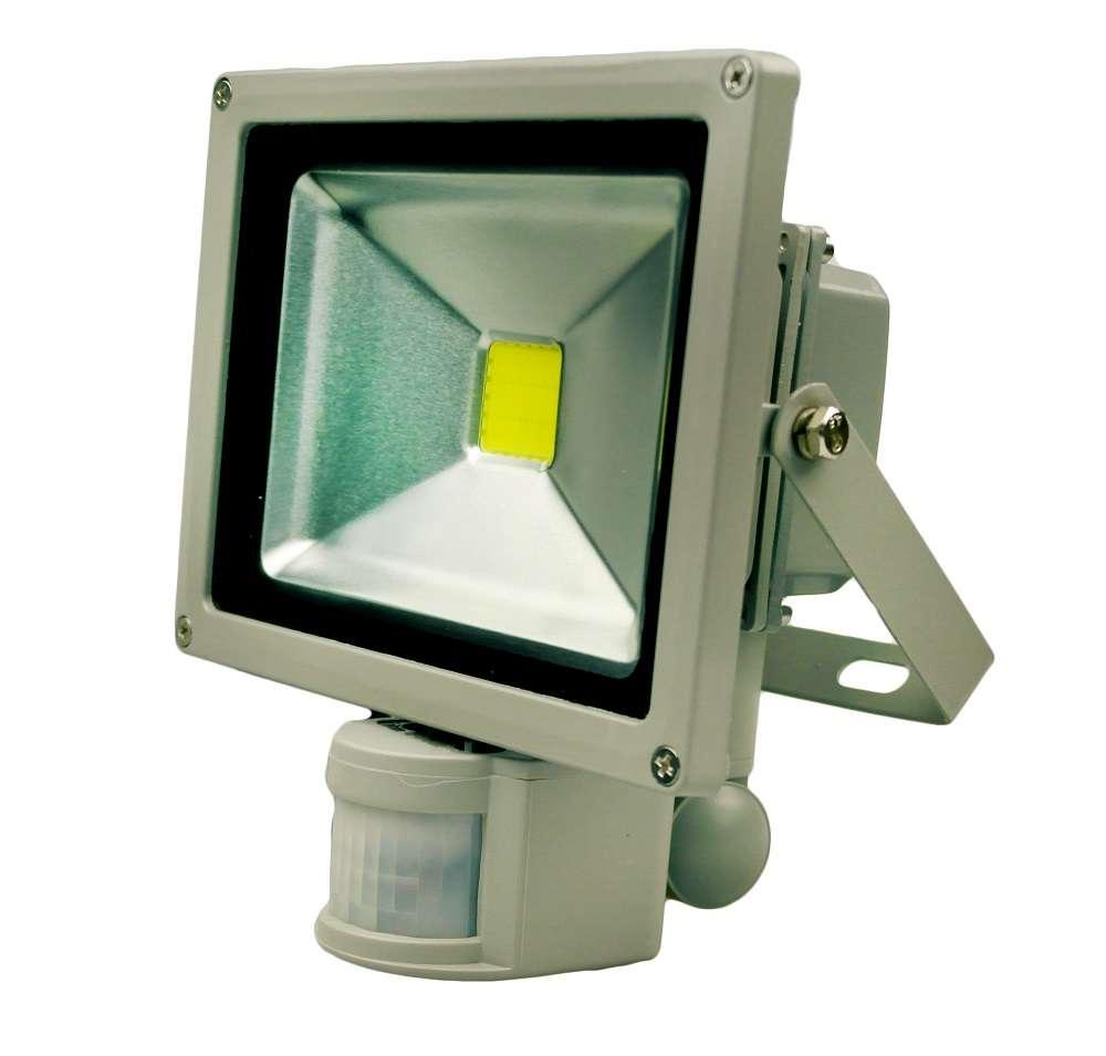 Как выбрать и установить светодиодный прожектор со встроенным датчиком движения