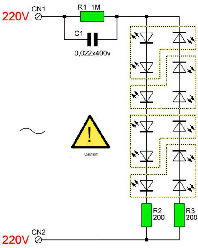 Создание светодиодной лампы на 220 вольт своими руками: инструкция, схемы, видео