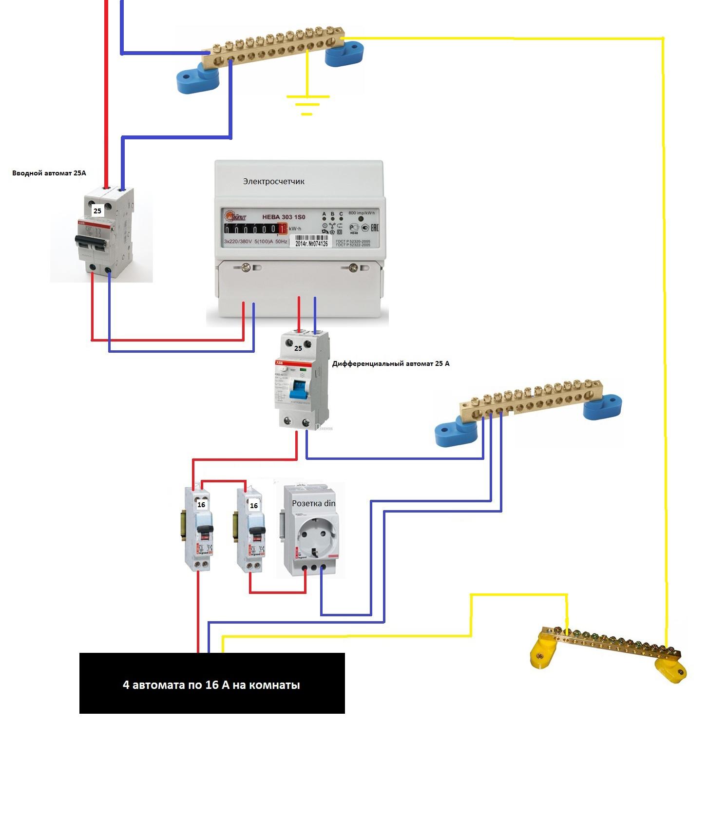 Устройство автоматического выключателя серии ва47-29