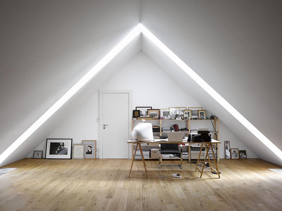 Освещение мансардного этажа