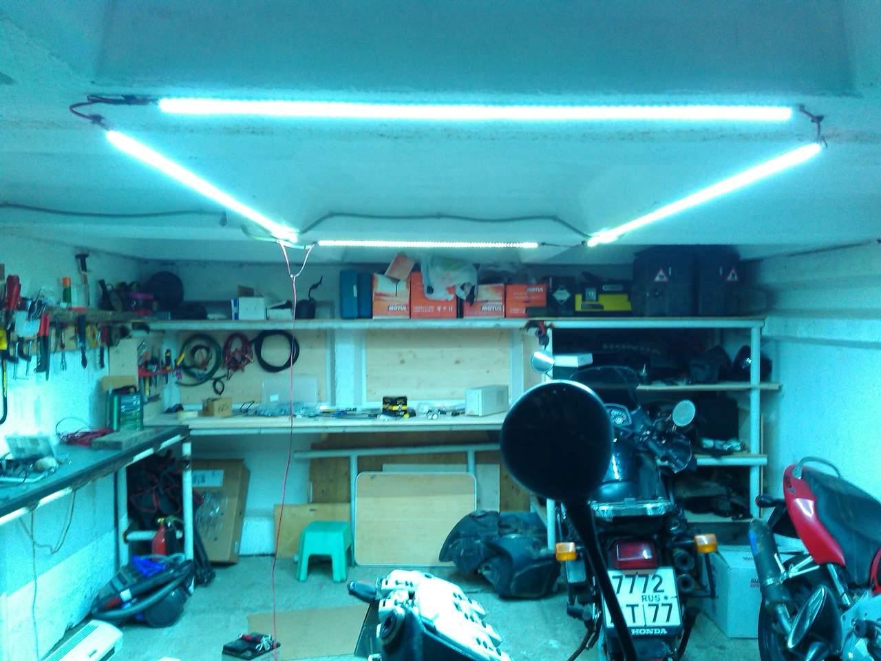 Как сделать освещение в гараже