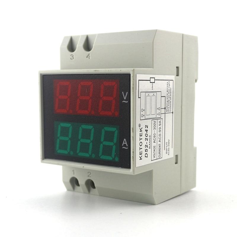 Цифровые амперметры amp, вольтметры vlt и частотометры fre, монтаж на din-рейке