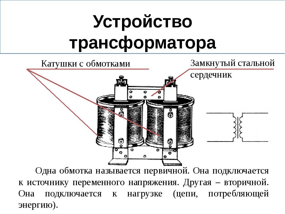 Принцип работы трансформатора и типы приборов