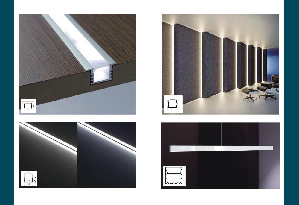 Профиль для светодиодной ленты: как работает, и для чего необходима защита электрооборудования