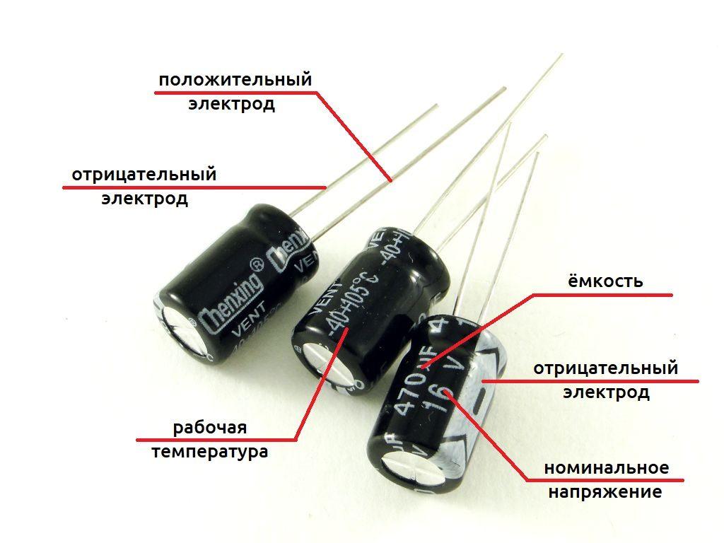 Виды конденсаторов, их классификация