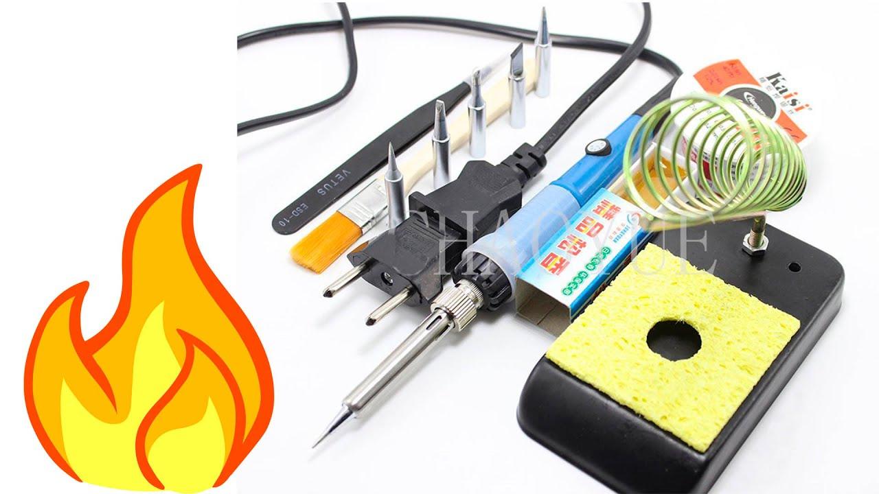 Как выбрать правильный паяльник и научиться паять провода