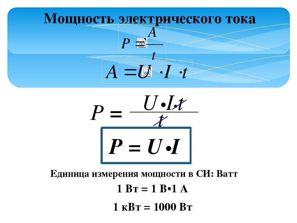 Работа электрического тока: формулы и задачи по теме