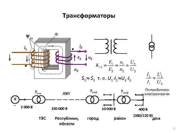 Трансформаторы напряжения - назначение и принцип действия
