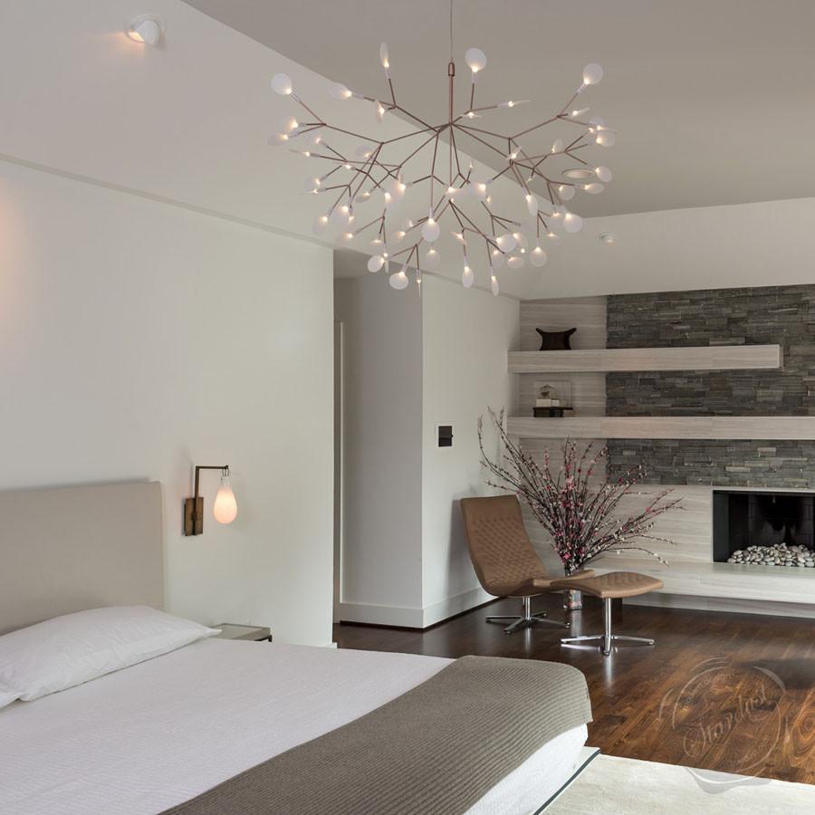 Установка бра над кроватью в спальной комнате — как выбрать высоту