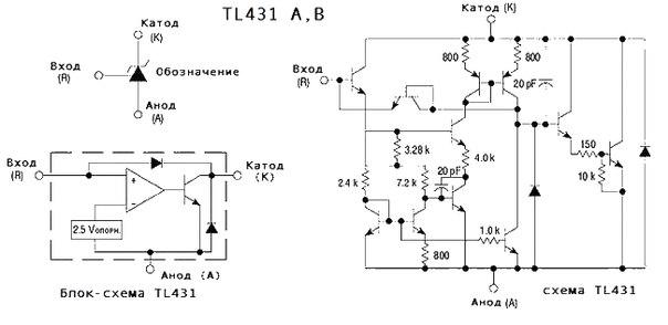 Tl431 схемы подключения